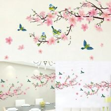Large Pink Peach Blossom Flower Tree Wall Stickers Art Decal Petals Home Decor
