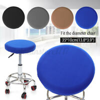 Bar Stool Cover Round Chair Slipcover Protector Elastic Fabric Seat Cushion Home