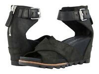 SOREL Joanie II Ankle Strap Wedge Sandals Women's Platform Casual Dress Shoes