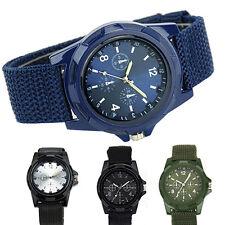 Men's Military Army Sport Style Canvas Strap Luminous Quartz Wrist Watch Magic