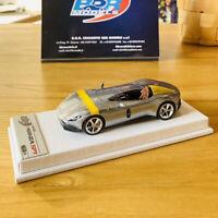 BBR 1:43 Ferrari Monza SP1 2018 Silver/Yellow Stripe Car Model Limited 36pcs NEW