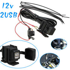 12v Waterproof Power Charger SocketDual USB Motorcycle Motorbike Mount Anywhere