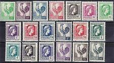 "FRANCE STAMP TIMBRE YVERT 630 / 648 "" SERIE COQ MARIANNE D'ALGER "" NEUFS xx LUXE"