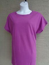 de5229c4 Roaman's Plus L 18-20W Crew Neck Short Raglan Cotton Tee Shirt Tunic Top  Violet