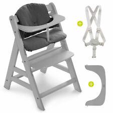 Hauck Hochstuhl Holz Baby Kinder Alpha Plus Grau bis 90 kg mit Sitzkissen Grau