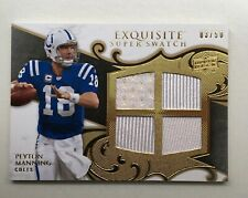 2008 UD Exquisite Collection PEYTON MANNING Super Swatch Quad Jersey Patch #3/50