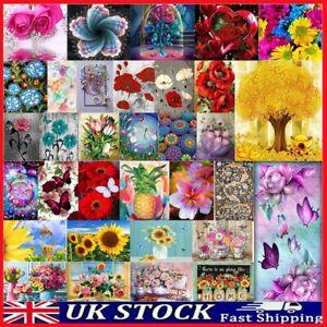 DIY 5D Diamond Painting Embroidery Cross Craft Stitch Art Kit Home Decor Flower