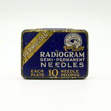 GRAMOPHONE NEEDLE TIN - Embassy - Permagold Radiogram Needles [NEEDLE TIN]