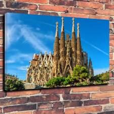 "La Sagrada Familia Lona Impresa Foto A1.30""x20""30mm profunda BARCELONA GAUDI"