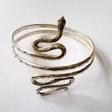 Brazalete serpiente aleación Plata de Ley pulsera ajustable boho vintage etnica