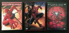 SPIDERMAN 3, SPIDERMAN 3 BONUS DVD, & SPIDERMAN 2 DVD SPECIAL EDITION LOT
