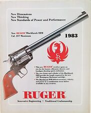 1983 STURM, RUGER FIREARMS CATALOGUE, FOLDS OUT TO LARGE DOUBLE SIDED POSTER.
