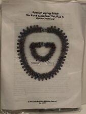 Russian Zigzag Stitch Necklace Bracelet Set RZZ-1 Complete Kit by Linda Richmond