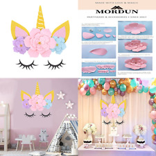 MORDUN Unicorn Party Supplies & Decorations Backdrop For Girls Birthday Baby Sho