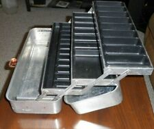 "Vintage Large Umco Model #175A Aluminum Tackle Box 3 Shelf Tray 17"" Usa"
