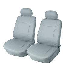 Car Seat Covers 2 PU Leather Compatible to Subaru  853 Gray