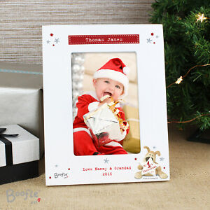 """Personalised Boofle My 1st Christmas Photo Frame 4"""" x 6"""" Any Name Gift"""