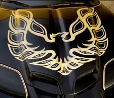 Pontiac Firebird Trans Am Front Hood Bird Metallic Gold Decal Original Style