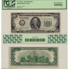 1934 $100 FRN DBS Fr#2152-L PCGS Currency Certified Choice About New 55 PPQ