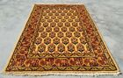 Authentic Hand Knotted Vintage indo Mir Badami Wool Area Rug 3 x 2 (11289 KBN)
