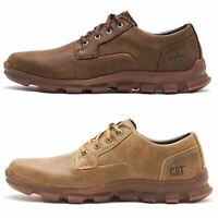 Caterpillar CAT Intent Leather Lace Up Shoes Beaned Light Brown & Coffee Brown
