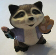 Hallmark Merry Miniatures 1989 Raccoon Artist With Paint And Pallot