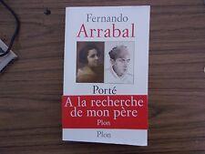 Fernando ARRABAL Porté disparu ( Plon 2000) avec bandeau