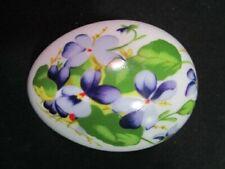 Danbury Mint Floral Collector Porcelain Egg Trinket Jar
