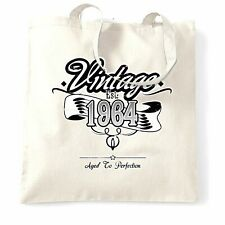 Birthday Tote Bag Vintage Est 1964 Aged To Perfection Distressed Design