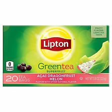 Lipton Tea Bag Green Tea Superfruit Acai, Dragonfruit and Melon, 20 Tea Bags