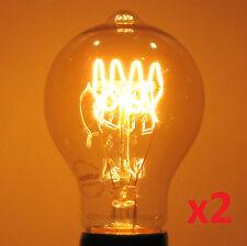 2-pack SUNLITE 60w LOOP Filament Edison Reproduction Antique Light Bulbs,60 watt