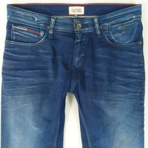 Mens Tommy Hilfiger SCANTON SLIM Stretch Slim Straight Blue Jeans W32 L34