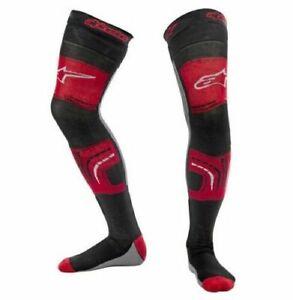 ALPINESTARS KNEE BRACE LONG SOCKS BLACK RED MOTOCROSS MX ENDURO NEW ADULT CHEAP