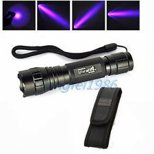 3W UltraFire WF-501B UV 395NM Ultraviolet LED Flashlight Torch 18650 + Holster