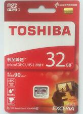 TOSHIBA EXCERIA 32GB Micro SD C10 4K U3 90MB/s Card Samsung Kingston Lexar lot