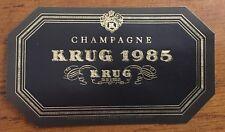 Une étiquette de champagne Krug 1985 - 75 cl