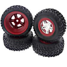Traxxas 1/16 Mini Slash 4x4 * FRONT & REAR SCT TIRES & RED BEADLOCK WHEELS * 12m