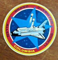 Vintage Space Shuttle Columbia Allen Brand Overmyer Lenoir sticker