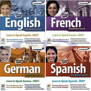 Learn to Speak 9.0 Essentials Language Tutorials PC Windows XP Vista 7 8 10