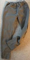 Zeitlose braune navy farben Damen Stretch Hose Gr 46 Gummizug Taschen
