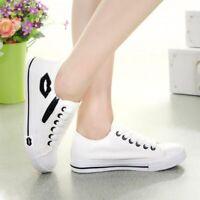 Zapatillas De Moda Verano Para Mujer Zapatos Casual De Lona Tenis Cómodo Labios