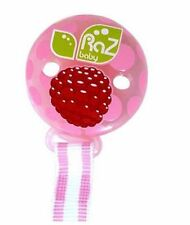 NEW RAZBABY RAZ-BERRY TEETHER HOLDER PINK