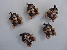 5 x MONKEY SHOE CHARMS suitable for Crocs Croc Jibbitz