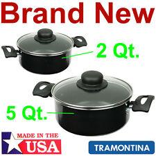 2 Aluminum Cooking Pots,2 and 5 Quart Kitchen Stove Dutch Oven Pot,New