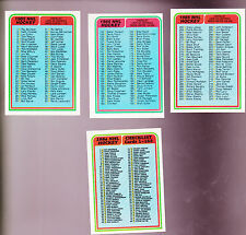 1984 OPC and Topps Team Lot of  4 NHL CHECKLISTS NM 165 394 395 396