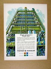 1964 Texas Electric Morgan Creek Steam Generator art Foster Wheeler print Ad
