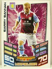 Match Attax 2012/13 Premier League - #027 Barry Bannan - Aston Villa