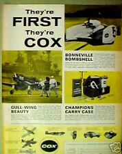 Cox Gas-Line Military~1968~ Model Toy Airplane Kits Ad