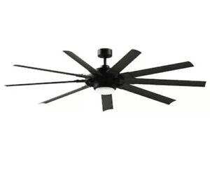 Fanimation Slinger v2 72-in Matte black LED Indoor/Outdoor Ceiling Fan w/Remote