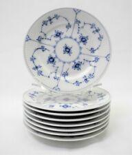 Royal Copenhagen Blue Fluted 8 Plain Bread & Butter Plates #181